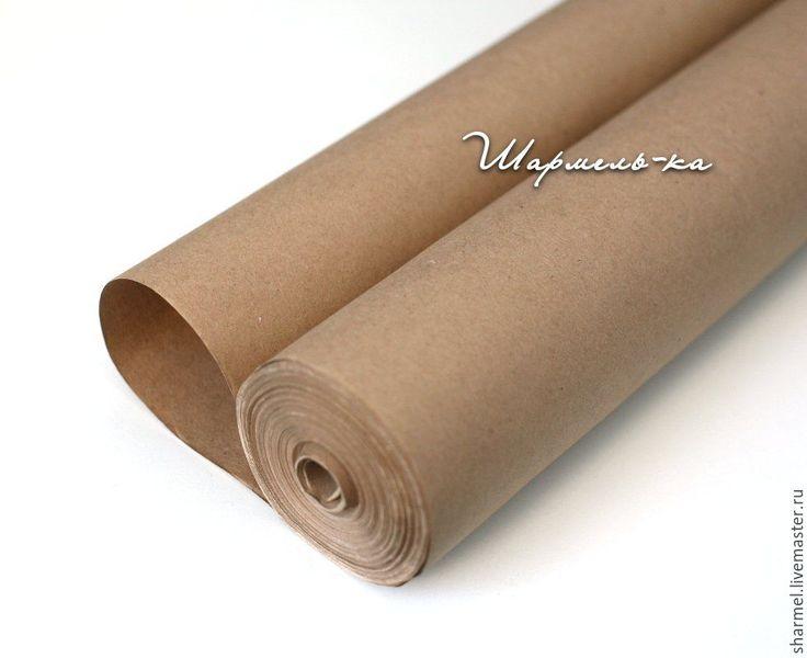 Купить Крафт бумага в рулоне 40 метров, 78 г/м2 - бежевый, бумага, Крафт-бумага