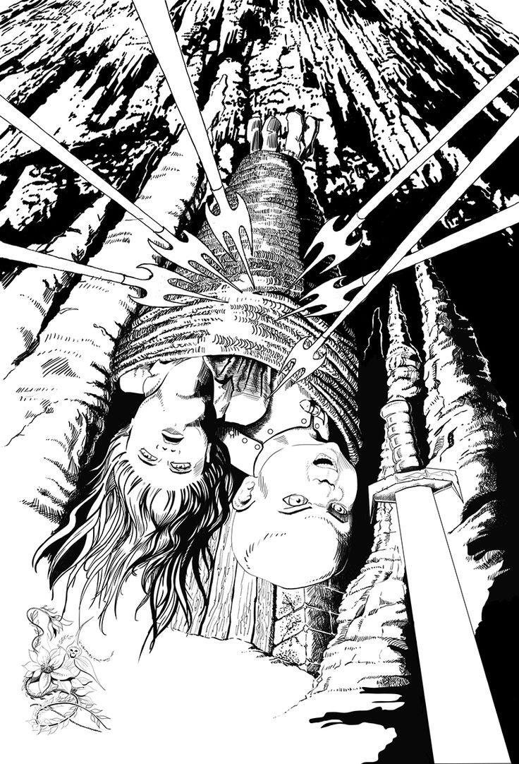 The Omega Children - The Vahn and the Bold Extraction - inked cover design