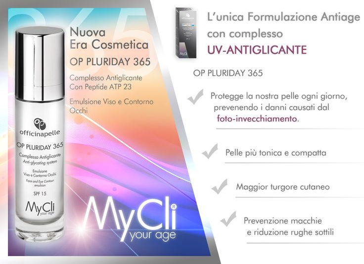 Un gioiellino di casa #MyCli: OP PLURIDAY 365  L'unica formulazione #antiage con complesso UV-ANTIGLICANTE.  Scoprilo nelle migliori #farmacie.