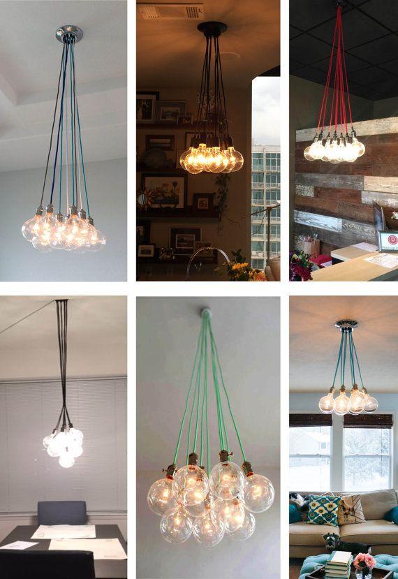 9 clustered pendant light modern chandelier industrial pendant lamp ceiling light fixture vintage style bulbs modern lighting usd by