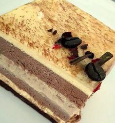 Bavarese allo Zabaione, Cioccolato e Namelaka al Caffè