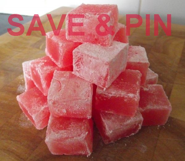Homemade Turkish delight! PLUS this link shows how to fix TD…