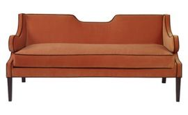 Draper Loveseat  MidCentury  Modern, Contemporary, Transitional, Upholstery  Fabric, Wood, Settee by Mr Brown London