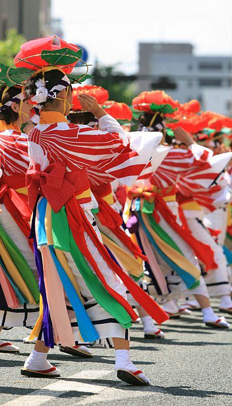 Sansa Dance Festival in Morioka, Japan