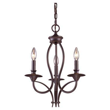 Elk lighting 61031 medford three light chandelier in oiled bronze oiled bronze indoor lighting chandeliers