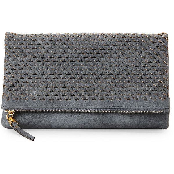 Urban Expressions Denim Lexi Fold-Over Clutch (89 PEN) ❤ liked on Polyvore featuring bags, handbags, clutches, blue, urban expressions purse, foldover purse, urban expressions handbags, chain strap handbag and blue purse