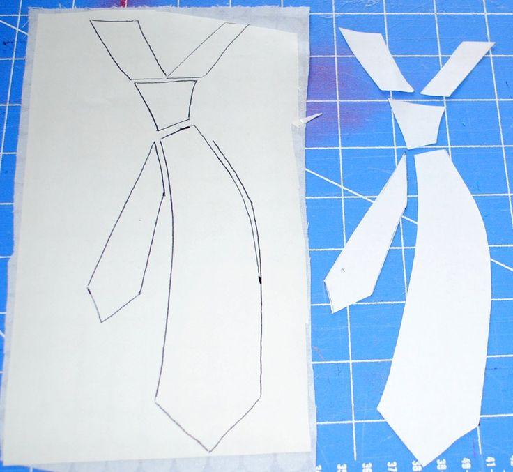 no sew applique patterns free | Necktie Applique Pattern | How to Applique