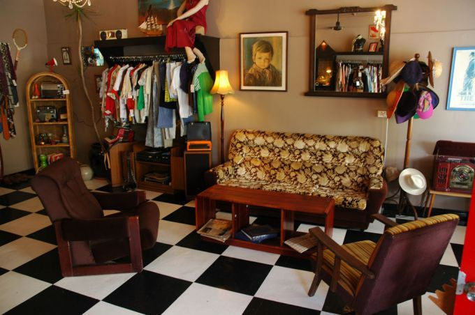 Vintage furniture and clothes inside It's Vintage Darling shop in Annerley