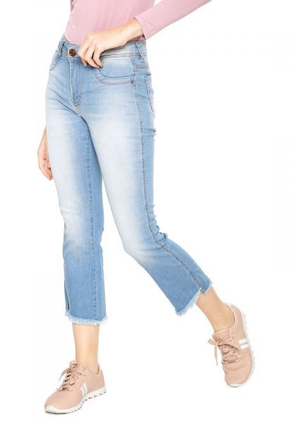 7e7688e07 Calca Jeans Sawary Cropped Flare Azul Sawary - Detalhes do produto Calca  Jeans Sawary Cropped Flare