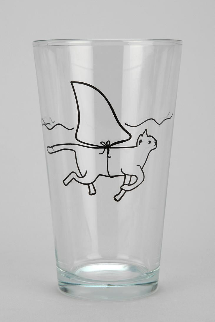 Is it a shark? Nope, just a cat dressed a shark, floating around in your pint glass. #urbanoutfitters. Jessica Lambert!