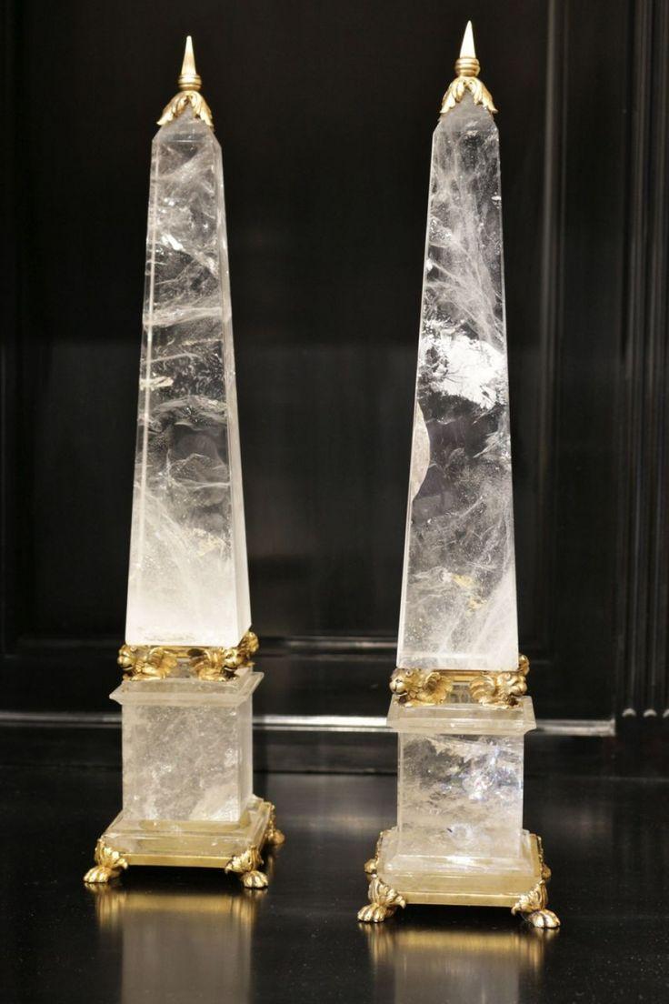 Obélisques en Cristal de Roche - XIXème siècle.
