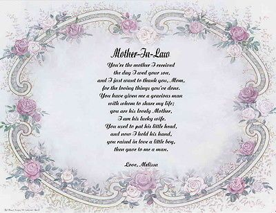 Pleasing Daughter Son In Law Personalized Poem Anniversary Gift Or Easy Diy Christmas Decorations Tissureus