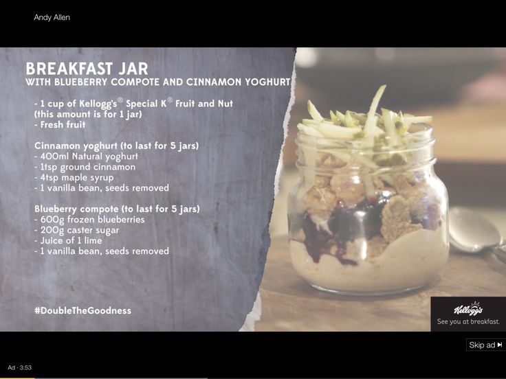 Breakfast jar for on the go