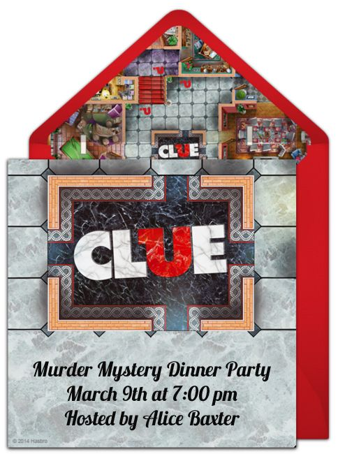 clue+mystery+party+invitations | invitations send out online invitations to let guests know that the ...