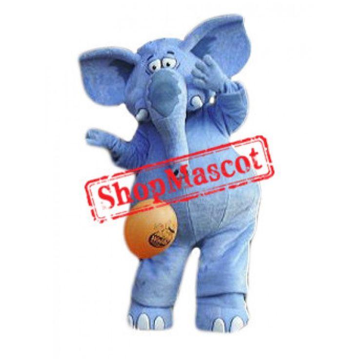 Best Quality Blue Elephant Mascot Costume