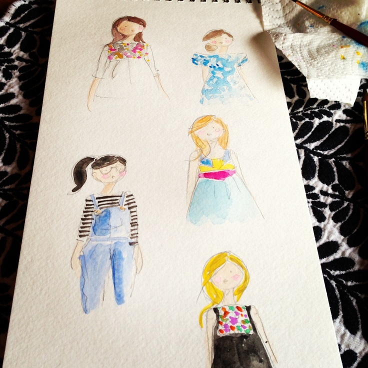 @Anthropologie inspired water colors -Jennifer Vallez