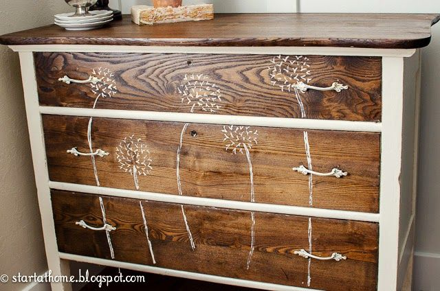 Start at Home: Old Chest, New Life - Something like this would look cute in a dining room.
