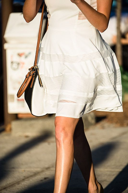 SS16 streetstyle detail  mid-length skirt  summer chic style  cute dress