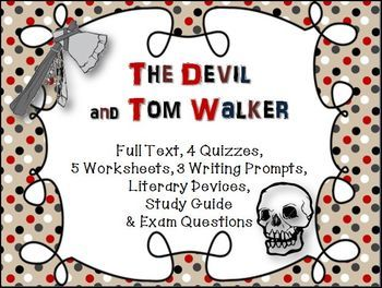 the devil and tom walker essay prompts Essay ideas, study questions and discussion topics based on important themes running throughout the devil and tom walker by washington irving great supplemental information for school.
