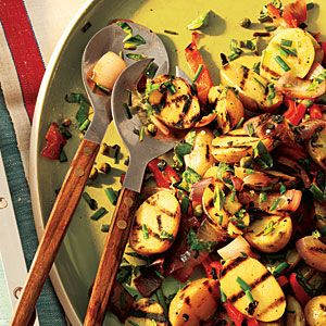 Lemony Grilled Potato Salad | MyRecipes.com #myplate #vegetables