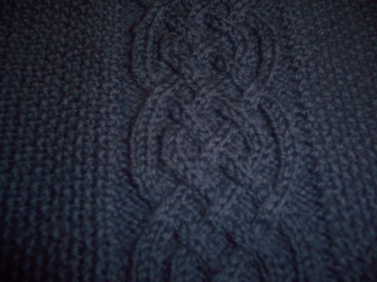 Close up of Saxon Braid from the pullover.