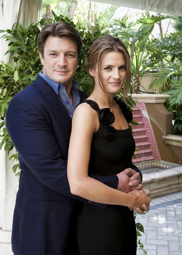 Nathan Fillion and Stana Katic. They are both funny interesting people, with great talent for acting. That is why they work perfectly together as Rick and Kate in the TV show Castle.