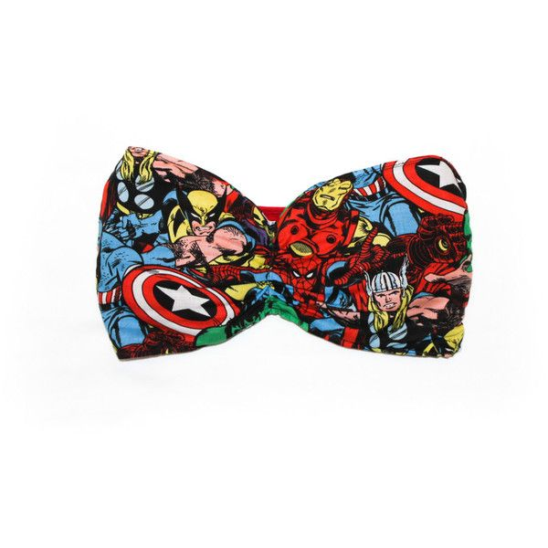 Marvel Bandeau Top ($20) ❤ liked on Polyvore featuring accessories, tops, bows, shirts, bandeau, grey, women's clothing, bandeau bikini top and bandeau tops