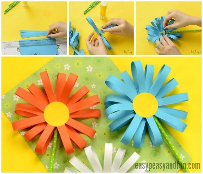 Paper Flower Craft Easy Peasy And Fun With How To Make Paper Craft Flowers Step By Step Flower Crafts Simple Paper Flower Paper Flower Crafts