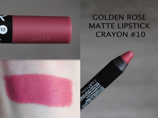 MAKEUP ARENA: Golden Rose Matte Lipstick Crayon -10