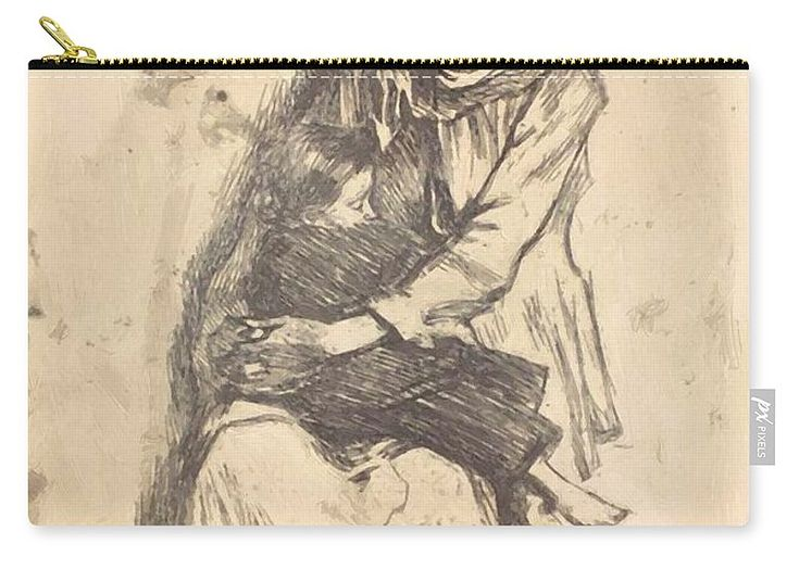 The Carry-all Pouch featuring the painting The Refugees 1923 by Vermont Nicolae