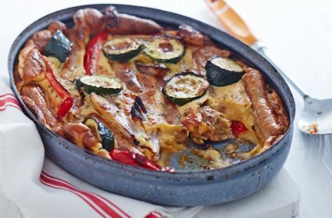 Quorn sausage and vegetable toad in the hole - Tesco Real Food - Tesco Real Food