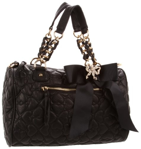 Betsey Johnson BH55810 Satchel,Black,One Size « Holiday Adds