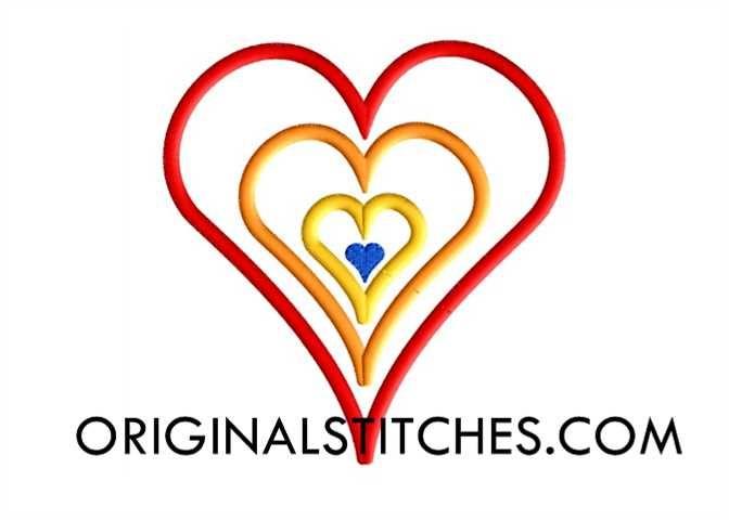 Rainbow Heart, Original Stitches