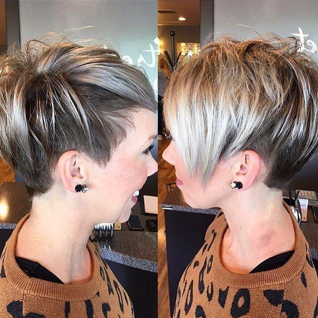 Hair , Do you love this?? Thanks @hairbyjennieo undercut pixie shorthair