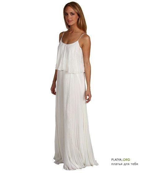 Белое легкое платье цена