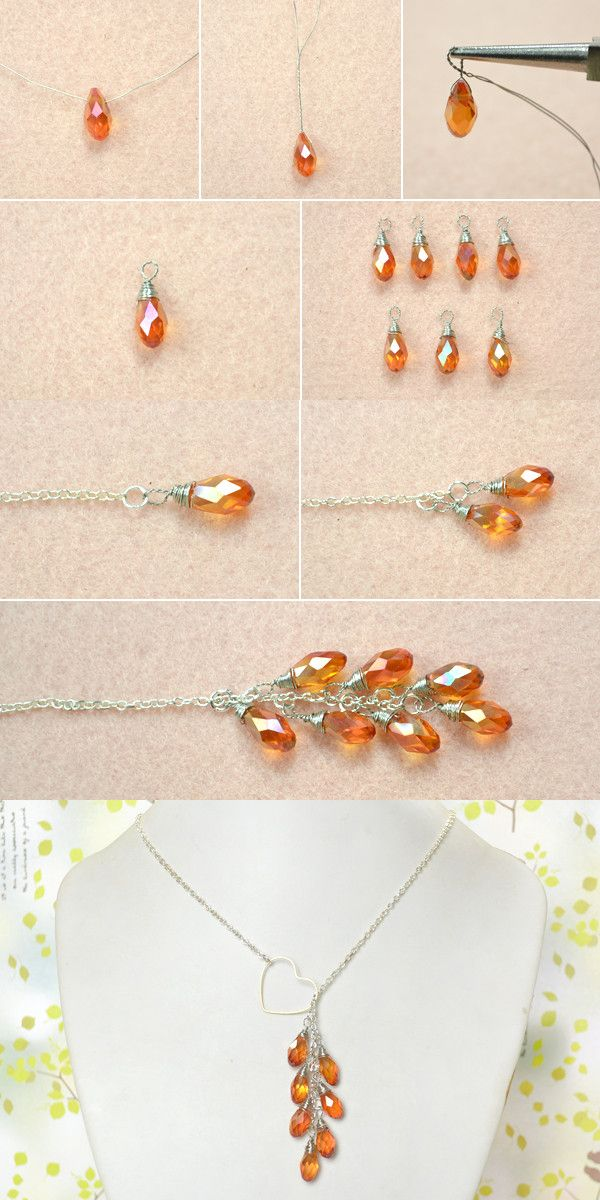 Tutorial for heart lariat necklace from LC.Pandahall.com