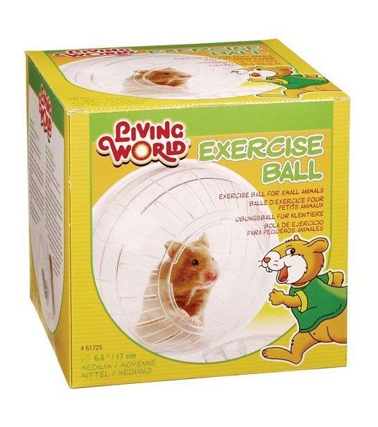 Bola de Ejercicio Plástica LIVING WORLD - #FaunAnimal Bola de ejercicio proporciona un ambiente seguro y móvil que permite a los pequeños animales domésticos reciban el ejercicio que necesitan.