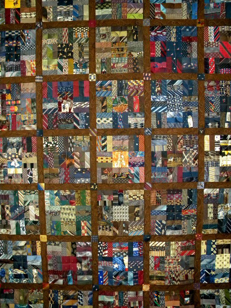 1000 Images About Necktie Quilts On Pinterest Tie Quilt