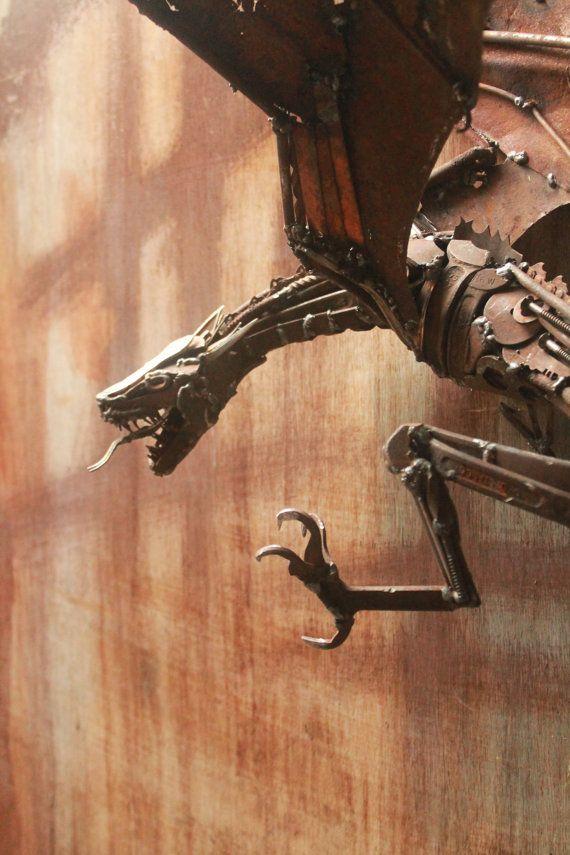 Dragon Sculpture Sculpture en métal soudé de par GreenHandSculpture