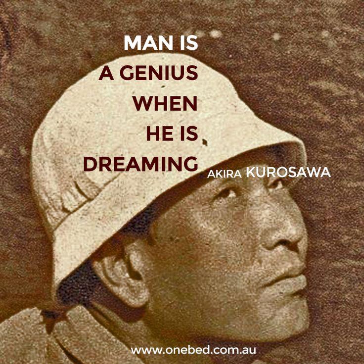 A little peek into the creative process of Japanese filmmaker Akira Kurosawa. #genius #dream #kurosawa #film #movies #filmmaking