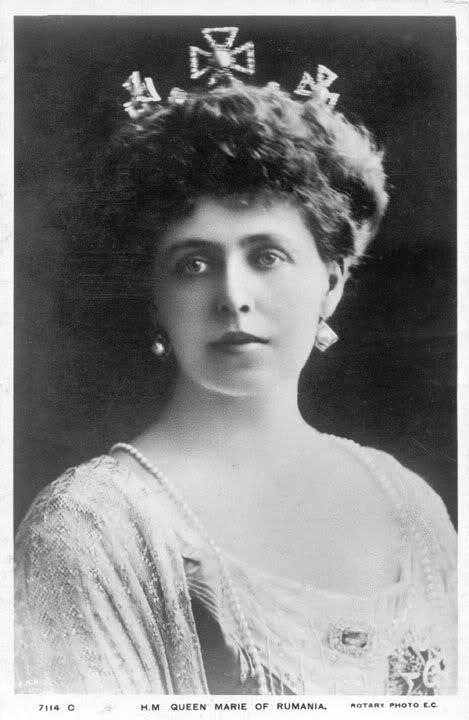 Queen Marie of Romania wearing lost crown