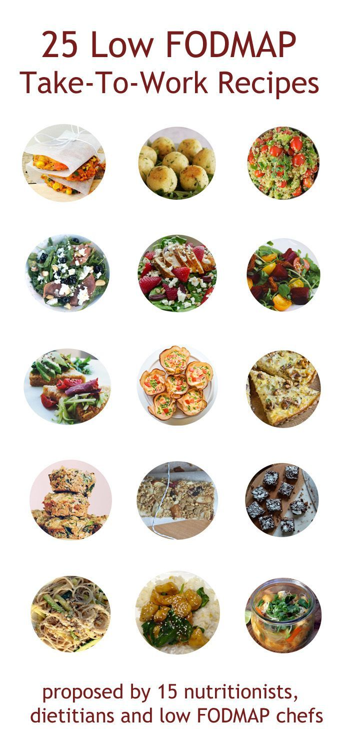 Love this collection by @my_gutfeeling 25 Low Fodmap Take-To-Work Recipes #IBS #FODMAPs