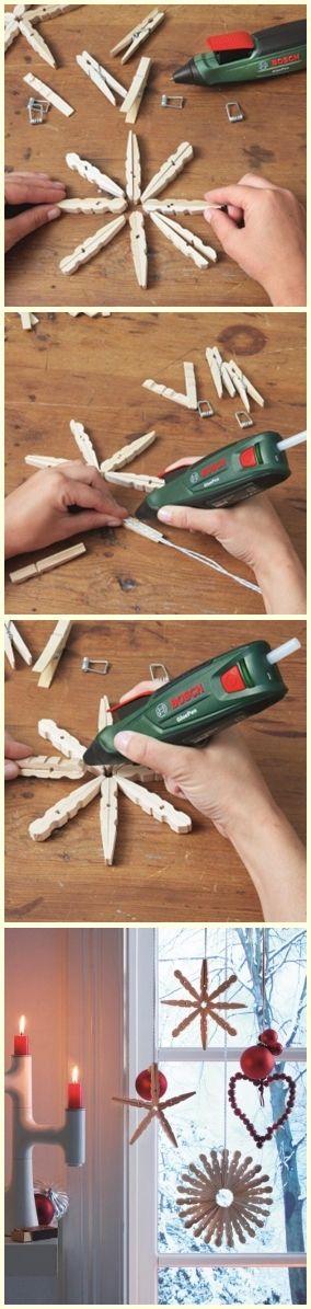 DIY ozdoby ze spinaczy