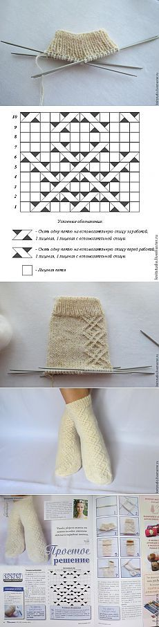 Вяжем шерстяные носки на 5 спицах - Ярмарка Мастеров - ручная работа, handmade