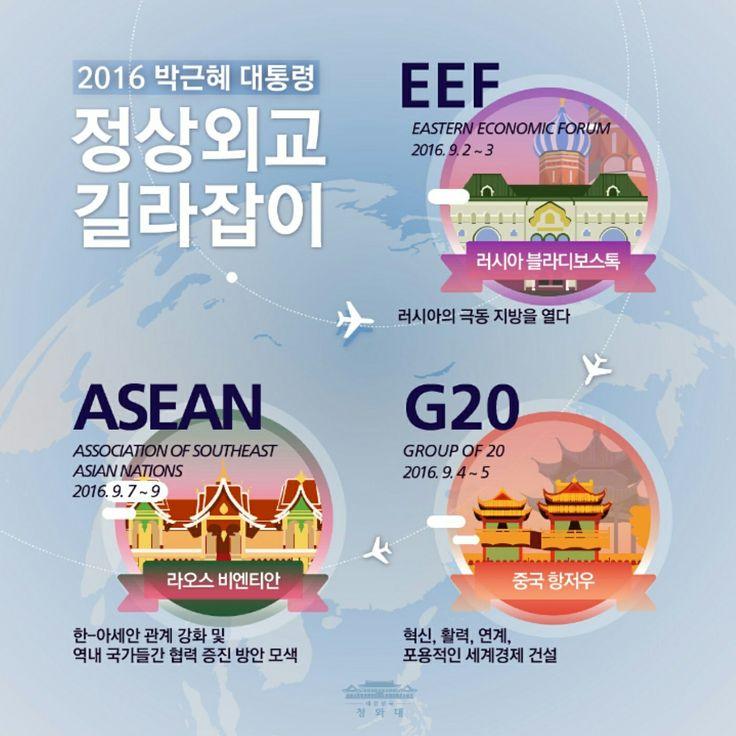 한-러정상회담 2016.9.2~9.9 #박근혜 대통령 President #ParkGeunHye #동방경제포럼 #forum #러시아 #중국 #라오스 방문. #Russia #EEF #블라디보스톡 #China #G20 #Hangzhou #항저우 #Laos  #ASEAN #아세안 #Vientian #비엔티안 #대한민국 #Korea