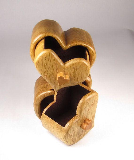 Caja de Sierra de cinta artesanales para la joyería baratija