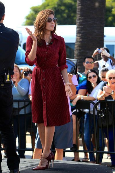 eva mendes red dress