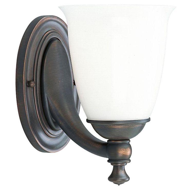 Progress Lighting Victorian Collection 1-Light Brushed ... on Bathroom Sconce Lights Brushed Bronze id=78464
