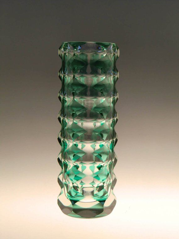 Bohemian Czech Art Glass Vase By Karel Wunsch Exbor Glassworks