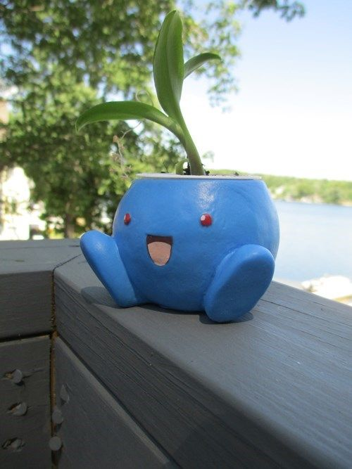 Oddish planter | I need this in my life.